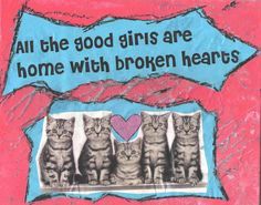 All The Good Girls CAT ART by TheEscapistArtist on Etsy