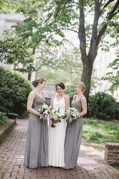 Light Gray Bridesmaids Dresses | photography by http://lovemedophotography.com