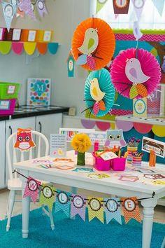 Bright Birds – Full Collection - New Deko Sites Preschool Classroom Decor, Classroom Design, Classroom Themes, Diy And Crafts, Crafts For Kids, Paper Crafts, Kids Bulletin Boards, Book Baskets, Rainbow Chevron