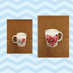 Love You Lips Valentine's Day Handmade Ceramic Mug by NGBCraftsandSupplies on Etsy Words Of Encouragement, Tim Holtz, Clear Stamps, Valentines Day, Love You, Ceramics, Etsy, Mugs, Hair Loss