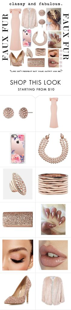 """Gown and fur with some evening fun"" by jumainakmir ❤ liked on Polyvore featuring Lonna & Lilly, Christian Siriano, Casetify, Chanel, Avenue, Repossi, Jessica McClintock, Avon, Head Over Heels by Dune and Sans Souci"
