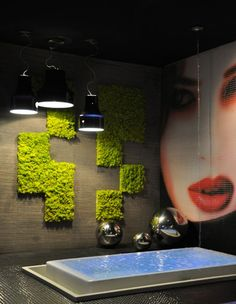 Benetti stone moss decor