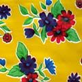Mexican Oilcloth Flourish Yellow