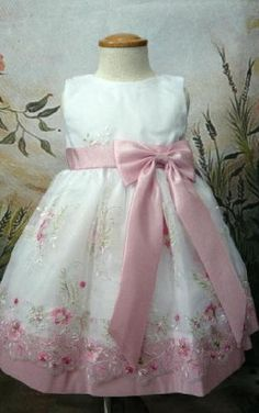 Elegant Ballgown Sleeveless Ankle Length Embroidered Sash With Bow Organza Flower Girl Dress