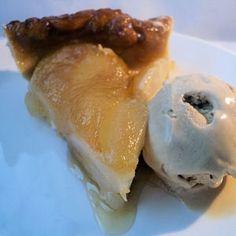 tatin de poires et glace au caramel au beurre salé
