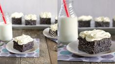Makovec Foto: Food Inspiration, Sweet Recipes, Glass Of Milk, Panna Cotta, Bakery, Cheesecake, Food And Drink, Pudding, Sweets