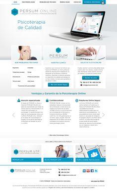 Aplicación web de videoterapia PERSUM Online.