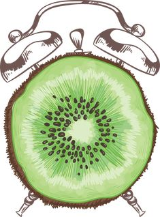Adrian Razvan Petcu is an independent artist creating amazing designs for great products such as t-shirts, stickers, posters, and phone cases. Green Fruit, Time Clock, Time Design, Kiwi, Natural Health, Christmas Ornaments, Abstract, Holiday Decor, Healthy