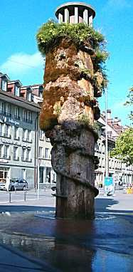 Meret-Oppenheim Fountain at Waisenhausplatz, Berne  --  (Well, this is certainly different, that's for sure.)