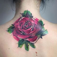Abstract flower tattoo... I don\'t have any of my own. But this is so unique I had to post.