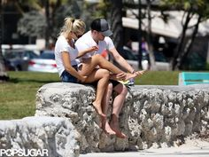 Michael Bublé wiped his wife Luisana Lopilato's feet after a walk on the beach. More photos here!