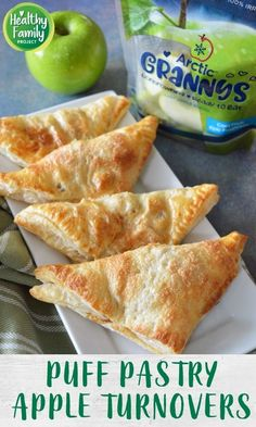 These apple turnovers are so easy to make for a quick treat your family will love. Apples are cooked with a little brown sugar and cinnamon, wrapped in puff pastry and baked to golden perfection. Frozen Puff Pastry, Puff Pastry Sheets, Freezable Meals, 4 Ingredient Recipes, Apple Turnovers, Fresh Apples, Baked Apples, Kid Friendly Meals, Caramel Apples