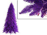 9' Pre-Lit Slim Purple Ashley Spruce Christmas Tree - Clear & Purple Lights