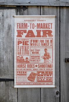 Agrarian fair poster, a Sideshow original and Whiskey Theatre Design out of Hobart, Tasmania