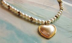 Napier Patent Pending GLass PearL Puffy Heart by DebsPickerSouL