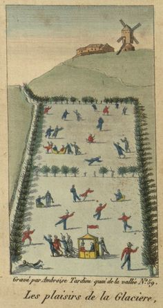 The pleasures of 19th C ice skating, Villanova Digital Library via Public Domain Review