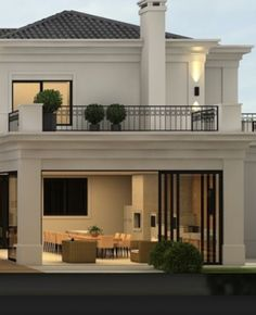 Home Ideas Exterior New 61 Ideas Classic House Design, House Front Design, Dream Home Design, Home Design Plans, Modern House Design, Villa Design, Future House, Design Exterior, Luxury Homes Dream Houses