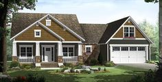 See every room of Architectural Designs Craftsman House Plan 51088MM beautifully rendered. This design gives you 3 beds, 2 baths and over 1,800 square feet of living plus a bonus room over the garage. Ready when you are. Where do YOU want to build?