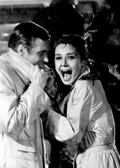 "summers-in-hollywood: ""Audrey Hepburn and George Peppard filming Breakfast at Tiffany's, 1961 """