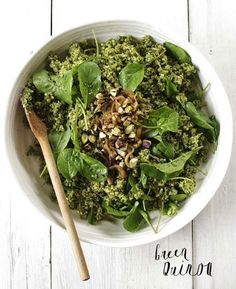 Green Quinoa - 32 Ways to eat quinoa