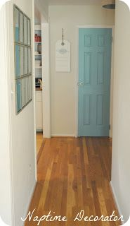 paint an interior door at the end of an hallway
