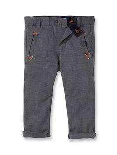 Pantalon droit chevrons