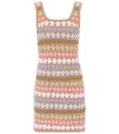 She Made Me Maala crochet shift dress