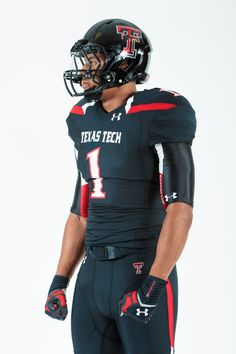 2013 Texas Tech Football Uniforms by Under Armour. It's all in the details. Texas Tech Football, College Football Uniforms, College Football Players, Texas Tech Red Raiders, Sports Uniforms, Football Outfits, American Football, Football Jerseys, Football Helmets