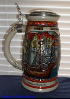 Budweiser Collector Steins | Outasite!! Collectibles Budweiser Beer Stein Discover America Nina ...