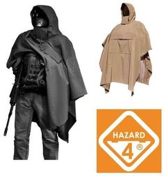 Mens Hazard 4 PonchoVilla Tactical Military Rain Poncho Coyote Hooded Heavy Duty #Hazard4