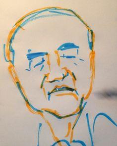 いいね!7件、コメント3件 ― @1mindrawのInstagramアカウント: 「#1mindraw #nakasoneyasuhiro #中曽根康弘 #birthday #誕生日 #19180527 #portrait #筆ペン画」