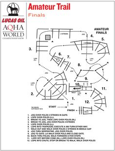 Amateur trail finals pattern from the 2015 Lucas Oil AQHA World Championship…