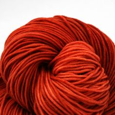 It should be called desire... or craving... Superwash Merino Hand Painted worsted weight 240 yds Terracotta