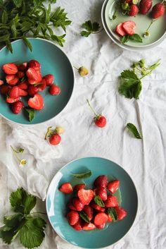 Salade de fraises au sirop de menthe