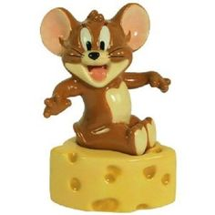 Tom and Jerry Jerry Sit on Cheese Magnetic Salt and Pepper Shakers | eBay