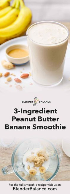 The Tastiest Peanut Butter Banana Smoothie - Easy Recipe - Blender . - The Tastiest Peanut Butter Banana Smoothie – Easy Recipe – Blender Balance You are - Peanutbutter Smoothie Recipes, Peanut Butter Smoothie, Easy Smoothie Recipes, Easy Smoothies, Peanut Butter Banana, Fruit Smoothies, Vegetable Smoothies, Jelly Recipes, Banana Recipes