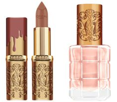 http://www.revelist.com/beauty-news-/loreal-beauty-and-the-beast/6768/Lumiere's refined dusty rose / baby pink combo is as proper as he is — the baroque Lip Kit packaging elevates it even further./7/#/7