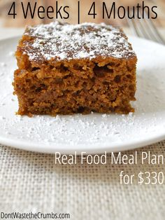 Frugal Real Food Meal Plan:  April 2014 | We're feeding 4 mouths for 4 weeks on only $330. | DontWastetheCrumbs.com