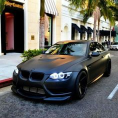 Matte Black BMW M3 - I see this car go pass me almost every week in the highway…