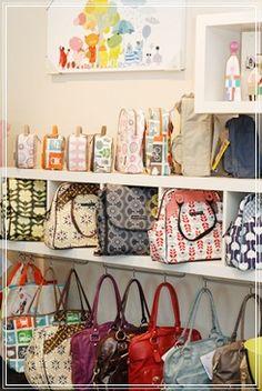 Bag Display Idea For A Craft Fair Booth
