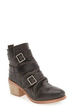 Kelsi Dagger Brooklyn 'Grand' Block Heel Bootie (Women) at Nordstrom.com. Antiqued for a cool, vintage look, a casual bootie is wrapped with adjustable straps and set on a stacked block heel with a deliberately roughened finish.