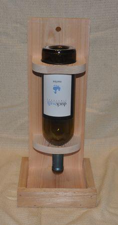 Wine bottle bird feeder wooden birdfeeders by moorefinewoodworking
