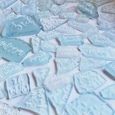 Seaglass Place Cards by A Fabulous Fete