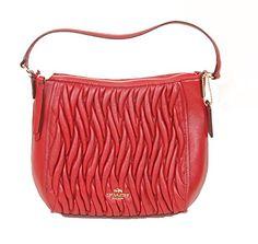 Coach Soft Gtathered Leather Mini Handbag With Removable Crossbody Strap