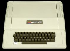 The Apple II was one of the first computer with a color display, and it has the BASIC programming language built-in, so it is ready-to-run right out of the box. The Apple II was probably the first user-friendly system. Apple Ii, Basic Programming Language, Computer History Museum, Apple Desktop, Floppy Disk, Black Box, Steve Jobs, Retro Design, Computer Keyboard