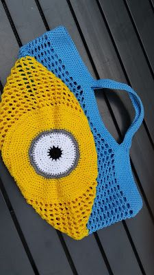 Miniontasje (met link naar gratis patroon) / Minionbag (with link to free pattern)