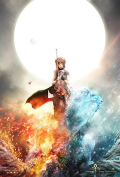 A very impressive piece of art work of Lindsey Stirling.