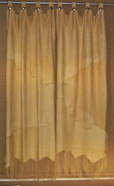 Western Window Treatments, Custom Leather Workroom , Located In Texas,  Specializing In Leather Window Treatments, Leather Bedding And Accessories.