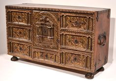 Spanish Mudejar-style Papelera | From a unique collection of antique and modern cabinets at http://www.1stdibs.com/furniture/storage-case-pieces/cabinets/