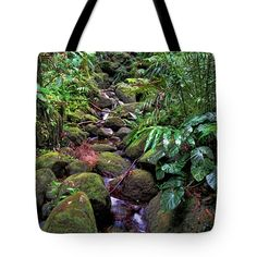 "Rainforest Stream Tote Bag 18"" x 18"""